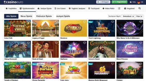 Casino Euro HD Spiele Vorschau